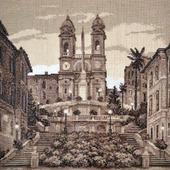 """Вышивка крестом картина """"Испанская лестница"""""""