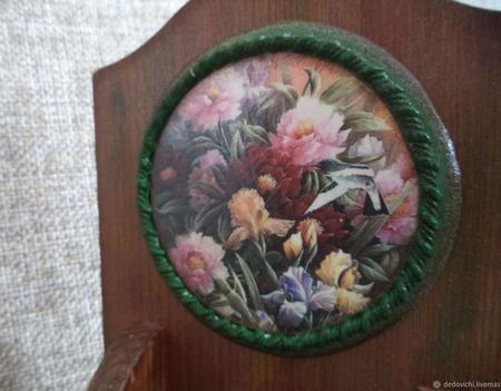 """Настольный вечный календарь """"Сад, милый мой сад"""" ручной работы на заказ"""
