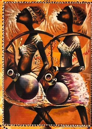 "Ключница ""Африка"" (2) ручной работы на заказ"