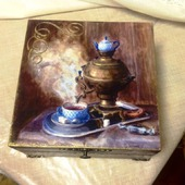 """Короб для чая """"Мужское чаепитие"""""""
