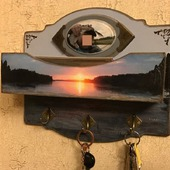 """Ключница с карманом для документов """"Подарок для супер-рыбака"""""""