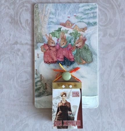 """Панно-подвес для отрывного календаря """"Рождество"""" ручной работы на заказ"""