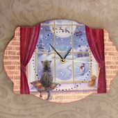 """Часы в детскую комнату """"Новогодняя сказка"""""""
