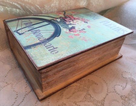 "Шкатулка-книга ""Романтика"" ручной работы на заказ"