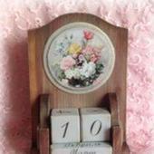 """Настольный вечный календарь """"Садовые цветы"""""""