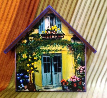 "Ключница ""Уютный дом"" ручной работы на заказ"