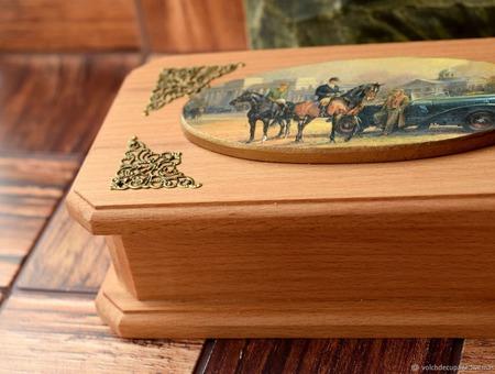 Шкатулка Династия купюрница ручной работы на заказ