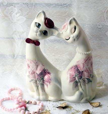 Романтика коты парочка свадебные юбилейные ручной работы на заказ
