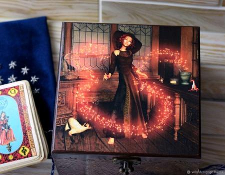 Шкатулка Юная Волшебница ручной работы на заказ
