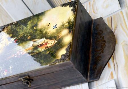 Ключница Сказочный лес декупаж ручной работы на заказ