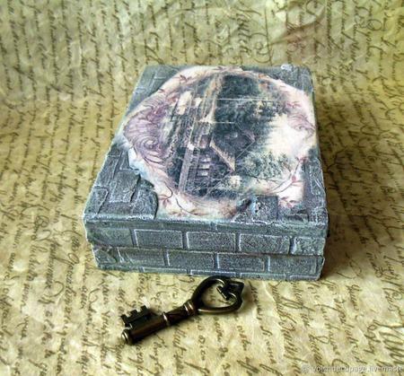 Шкатулка для визиток или колоды карт ручной работы на заказ
