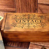 Шкатулка Vintage деревянная