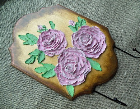 Вешалка-ключница Английский сад ручной работы на заказ