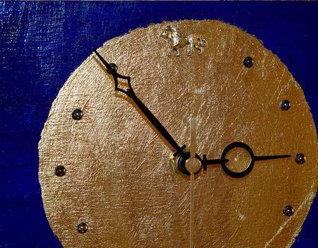 Часы-панно Восточная ночь ручной работы на заказ