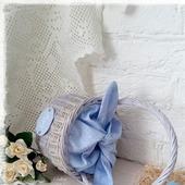 Корзинка плетеная Пасхальная для детей Зайка