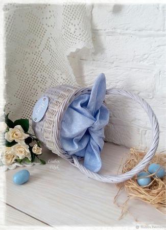 Корзинка плетеная Пасхальная для детей Зайка ручной работы на заказ