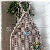 Полка плетеная настенная декоративная 'Ma belle maison'