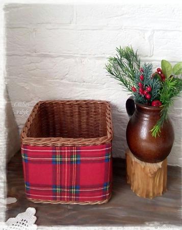 Короб плетеный в стиле Шотландия ручной работы на заказ