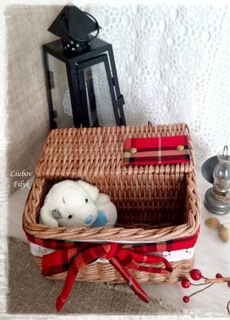 Короб плетеный Шотландия ручной работы на заказ