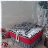 Короб плетеный Рождественские подарки