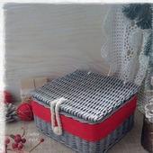 фото: короба корзины плетеные
