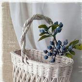 Плетеная корзина ажурная 'French charm'