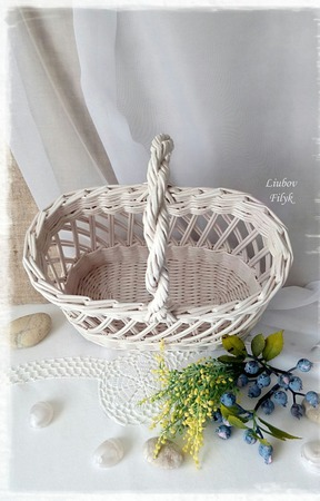 Плетеная корзина ажурная 'French charm' ручной работы на заказ