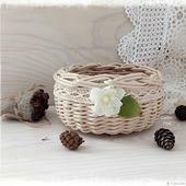 Корзинка плетеная Цвет яблони