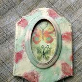 Вешалка-ключница Бабочки