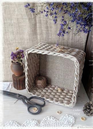 Короб плетеный  'Осеняя пора' ручной работы на заказ