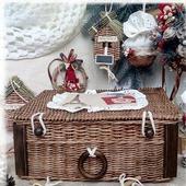 Плетеный короб Сундук с игрушками 'Старинные желания'