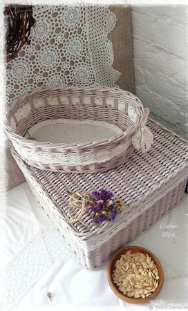 Плетеный набор 'Парижские традиции' ручной работы на заказ