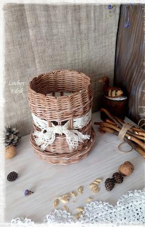 Плетеный короб Подарочный ручной работы на заказ