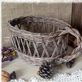 Плетеная корзина ажурная 'Старинная'