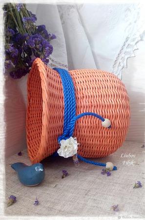 Корзина плетеная 'Orange' ручной работы на заказ