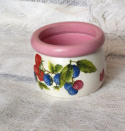 Комплект браслетов Ягодный десерт декупаж ручной работы на заказ