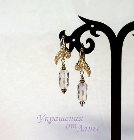 Серьги с лавандовым аметистом серебро ручной работы на заказ