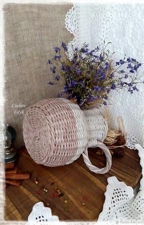 Кувшин плетеный  Кантри ручной работы на заказ