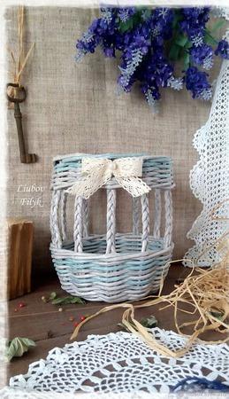 Корзинка плетеная ажурная ручной работы на заказ