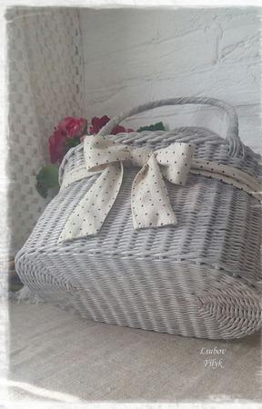 "Сумка плетеная ""Романтичная"" ручной работы на заказ"