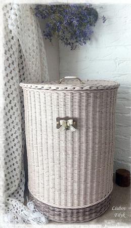 Корзина плетеная для белья 'Beautiful' ручной работы на заказ