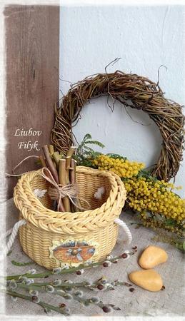 Плетеная корзинка Солнечная ручной работы на заказ