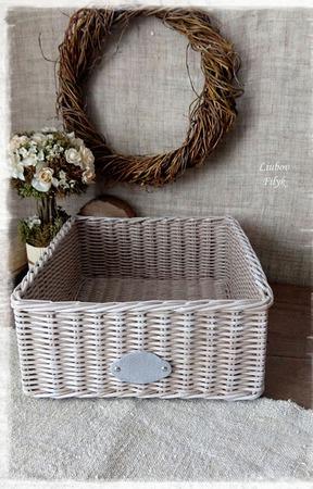 Короб плетеный 'Ma maison' ручной работы на заказ