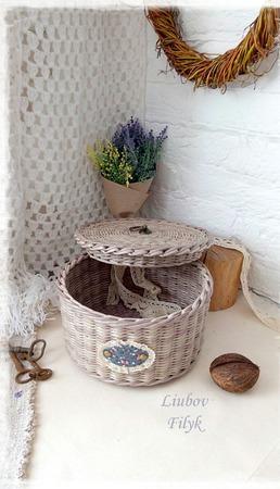 Плетеная шкатулка 'Antique' ручной работы на заказ