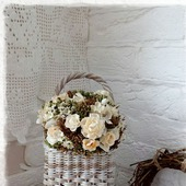 Плетеная корзинка настенная Gray