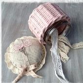 Плетеная игольница