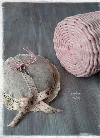 Плетеная игольница ручной работы на заказ