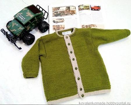 Кофточка для мальчика ручной работы на заказ