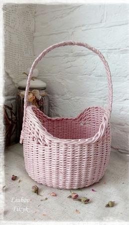 Короб плетеный 'Rose' ручной работы на заказ