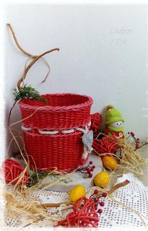 Короб плетеный Праздничный ручной работы на заказ